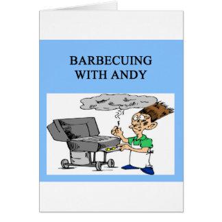cozimento na grelha com Andy Cartão Comemorativo