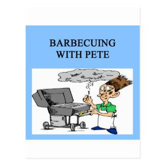cozimento na grelha com Pete Cartão Postal