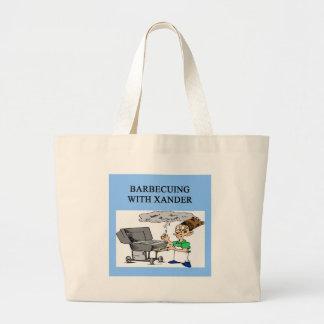 cozimento na grelha com xander bolsas para compras