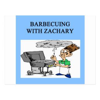 cozimento na grelha com Zachary Cartão Postal
