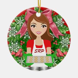 Cozinha #2/padaria - SRF Ornamento De Cerâmica Redondo