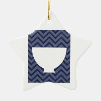 Cozinha branca - bacia na viga ornamento de cerâmica estrela