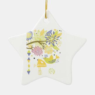 cozinha do país - misturador da mão em floral. ornamento de cerâmica estrela