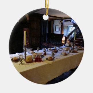 Cozinha do século XVII em Moseley idoso Salão Ornamento De Cerâmica Redondo