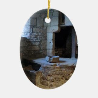 Cozinha medieval de Haddon Salão Ornamento De Cerâmica Oval