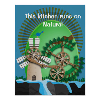 Cozinha natural poster