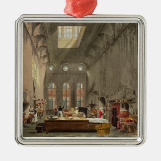 Cozinha, o palácio de St James, gravado por Ornamento Quadrado Cor Prata