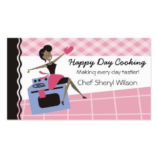 Cozinhar feito sob encomenda do forno da mulher do modelos cartoes de visitas