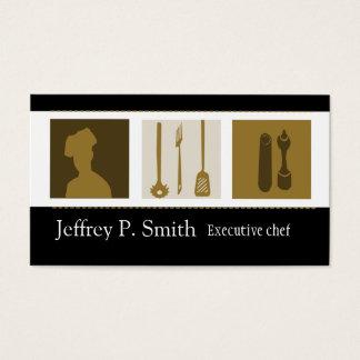 Cozinheiro chefe culinário do cozinheiro da cartão de visitas