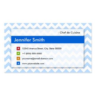 Cozinheiro chefe de Culinária - Chevron azul Cartão De Visita
