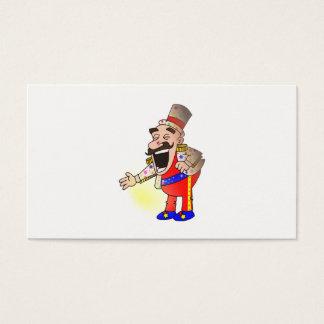 Cozinheiro chefe do circo cartão de visitas