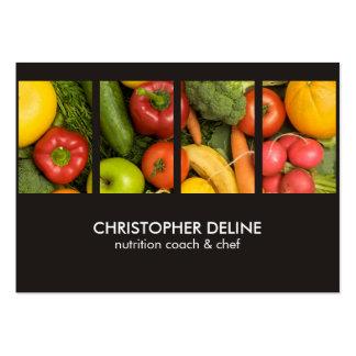Cozinheiro chefe elegante moderno do nutricionista cartão de visita grande