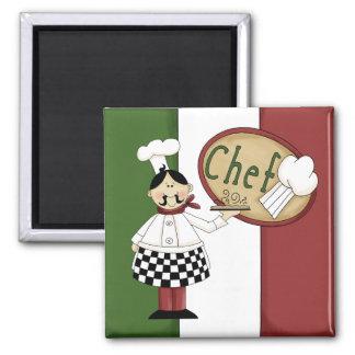 Cozinheiro chefe italiano da comida imãs de geladeira