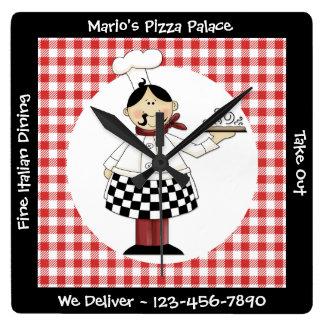 Cozinheiro chefe italiano relógio para parede