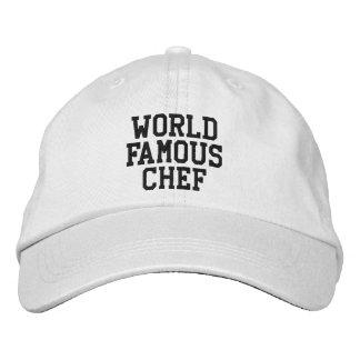 Cozinheiro chefe mundialmente famoso chapéu boné