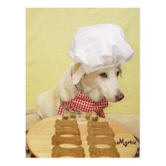 Cozinheiro chefe Myrtie Cartao Postal