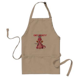 Cozinheiro chefe no avental do dever
