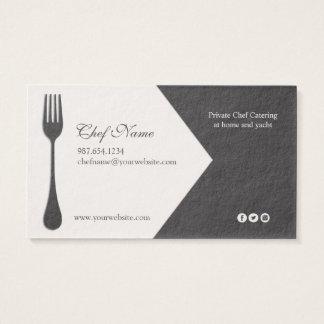 Cozinheiro chefe pessoal, restauração, chefe de cartão de visitas