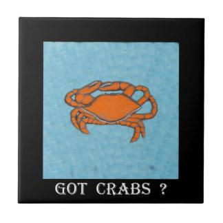 Crabs (Maryland, golfo e costa leste) .jpg Azulejo Quadrado Pequeno