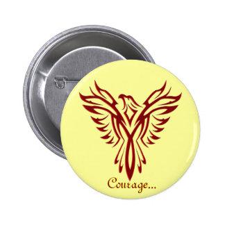 Crachá/botão carmesins da ascensão de Phoenix Bóton Redondo 5.08cm