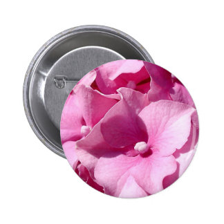 Crachá/botão cor-de-rosa do Hydrangea Bóton Redondo 5.08cm
