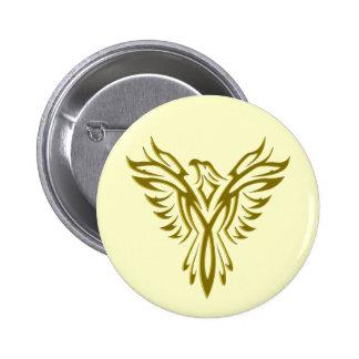 Crachá botão da ascensão de Phoenix Pins