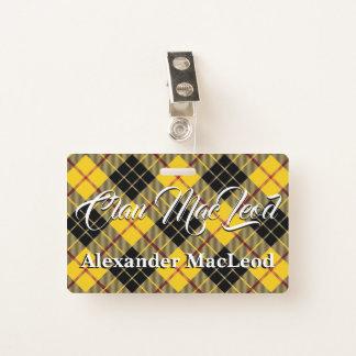 Crachá Clã MacLeod do Tartan de Lewis