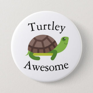 Crachá da chalaça da tartaruga bóton redondo 7.62cm