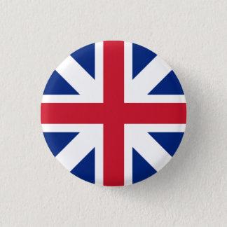 Crachá de Grâ Bretanha - união de Inglaterra & de Bóton Redondo 2.54cm