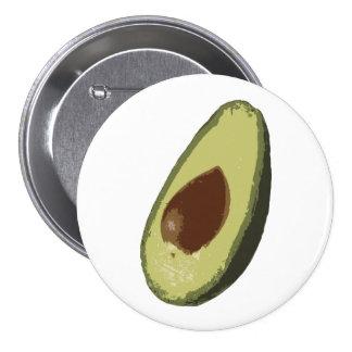 Crachá do botão do abacate bóton redondo 7.62cm