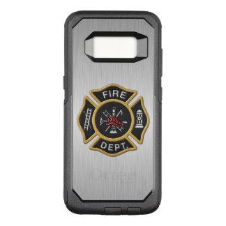 Crachá do departamento dos bombeiros de luxe capa OtterBox commuter para samsung galaxy s8