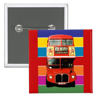 Crachá do ônibus de Londres - quadrado Botons