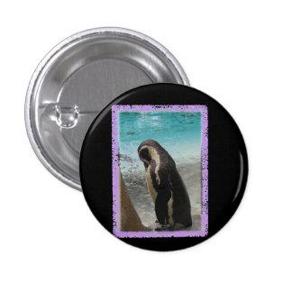Crachá do pinguim bóton redondo 2.54cm