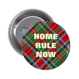 Crachá escocês da independência da regra Home Bóton Redondo 5.08cm