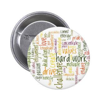 Crachá inspirador/botão das palavras #2 bóton redondo 5.08cm