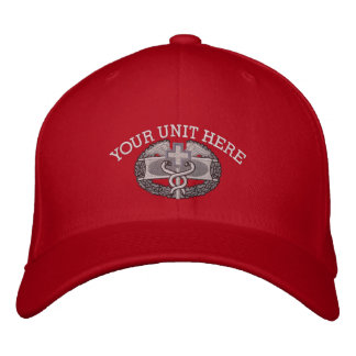 Crachá médico Iraque do combate & chapéu da fita Bonés Bordados
