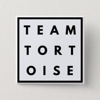Crachá quadrado engraçado da tartaruga da equipe bóton quadrado 5.08cm