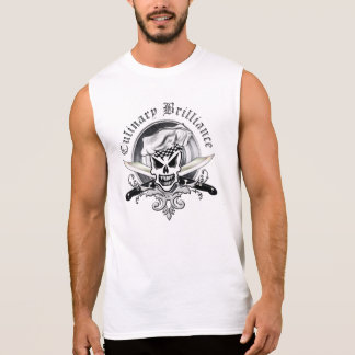 Crânio 2 do cozinheiro chefe camisetas sem manga