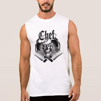 Crânio 3,1 do cozinheiro chefe camisa sem mangas