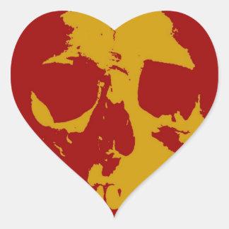 Crânio Adesivo Coração