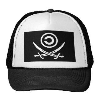 Crânio & bandeira de Anti-Copyright Copyleft dos C Bone