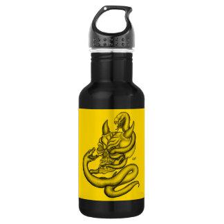 Crânio - cabeça do diabo com cobra garrafa d'água