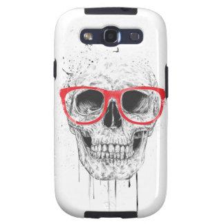 Crânio com vidros vermelhos capa personalizadas samsung galaxy s3