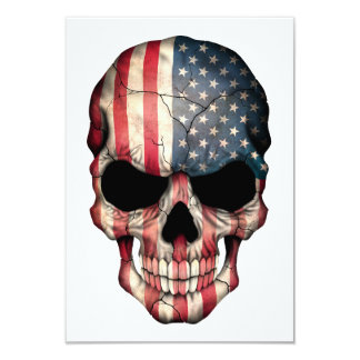 Crânio da bandeira americana convite
