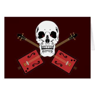 Crânio da guitarra da caixa de charuto cartão comemorativo