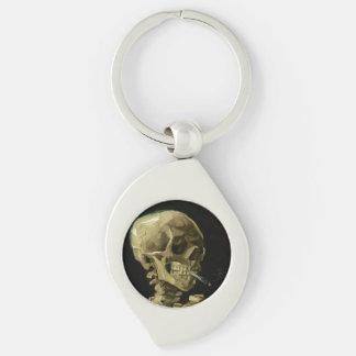 Crânio de Van Gogh | com cigarro ardente | 1886 Chaveiro