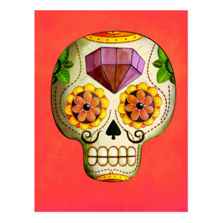Crânio do açúcar de Diâmetro de Los Muertos Cartão Postal