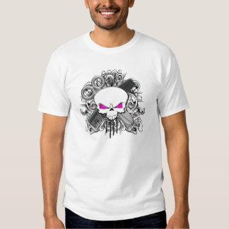 Crânio do cabeleireiro tshirt