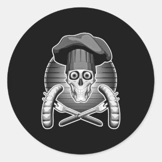 Crânio do cozinheiro chefe: Cozimento na grelha Adesivo