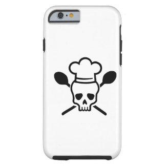 Crânio do cozinheiro chefe do cozinheiro capa tough para iPhone 6